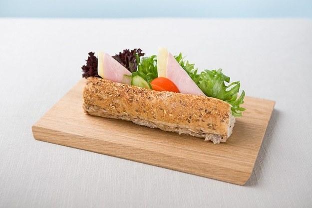 Bilde av Minibaguette med ost og skinke