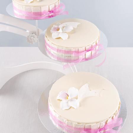 Bryllupskake hvit sjokolademousse
